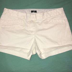 J.CREW CLASSIC HIP TRENDY WHITE STRETCH SHORTS 6